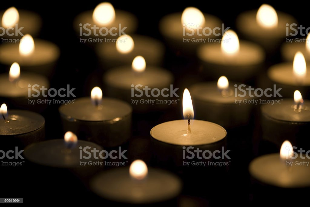 Tea candles - horizontal stock photo