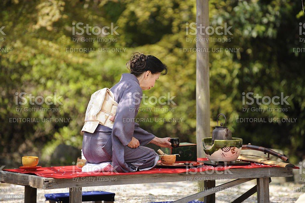 Tea ceremony, Japan stock photo