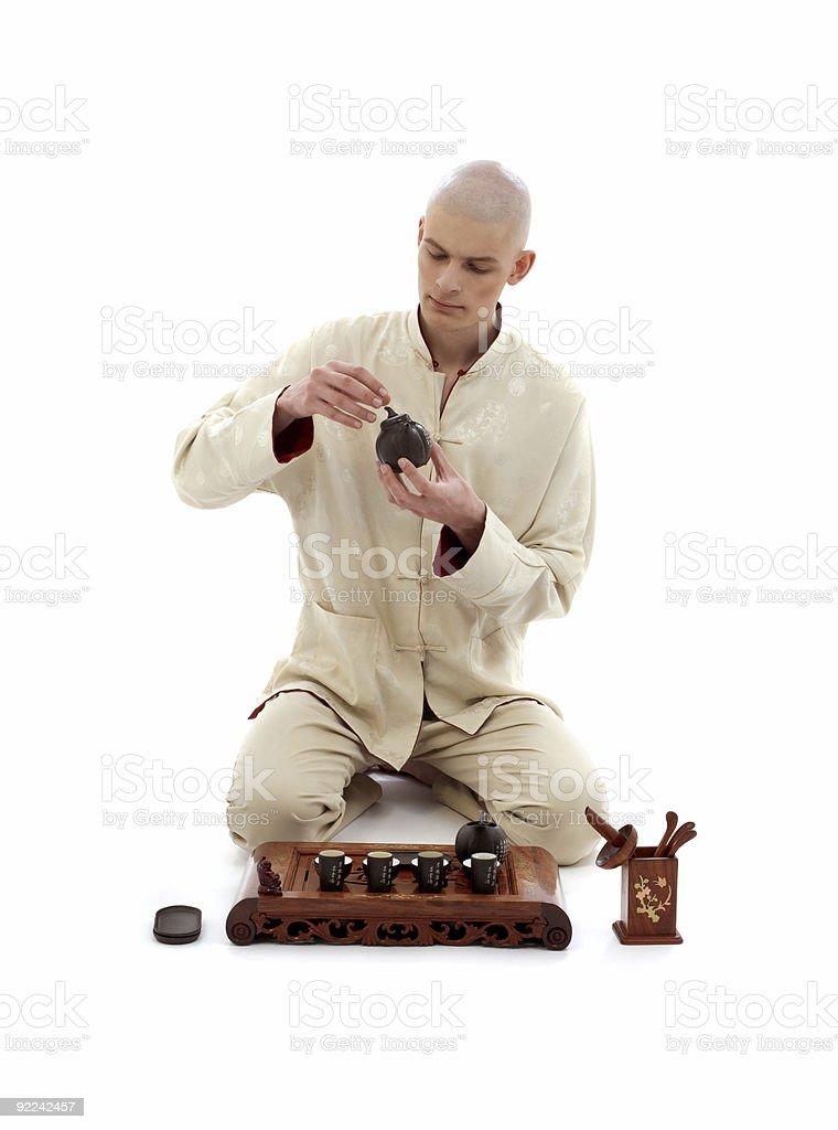 tea ceremony master #2 royalty-free stock photo