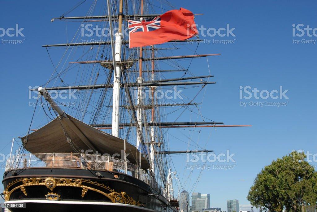 Tea Clipper, Greenwich stock photo