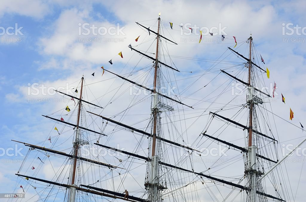 Tea Clipper mast stock photo