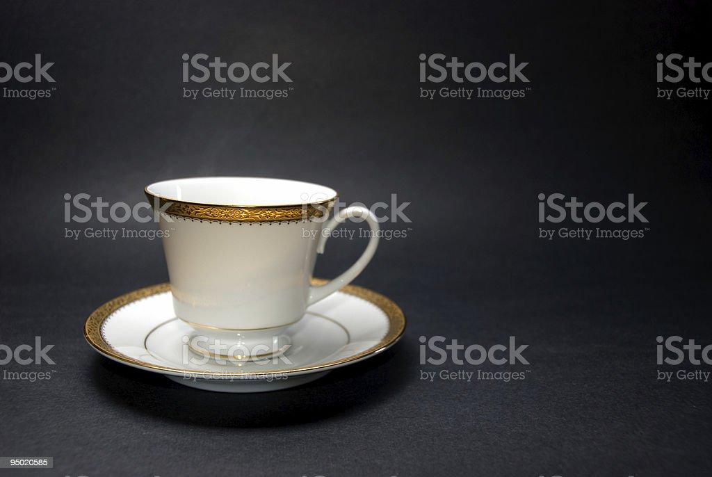 Tea cup and saucer stock photo