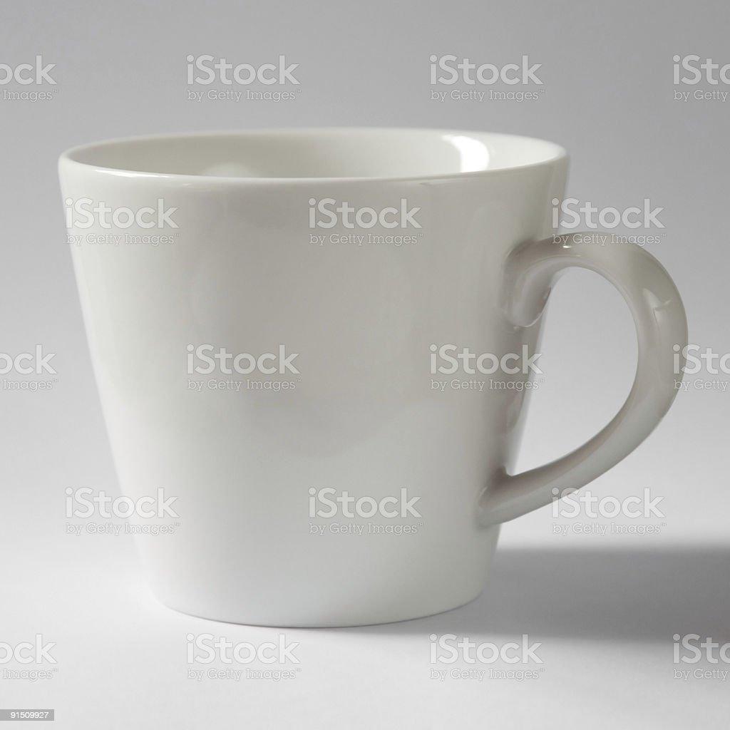 Taza de té en blanco foto de stock libre de derechos