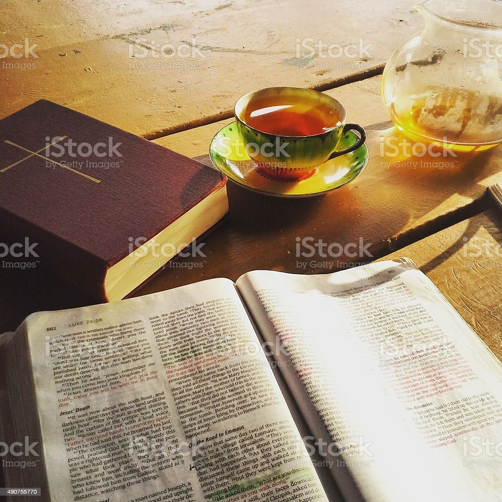 Teetasse Gebet Lizenzfreies stock-foto