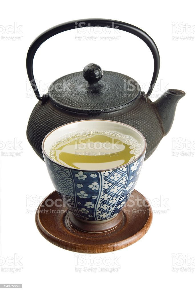 tea cup with kettle royalty-free stock photo