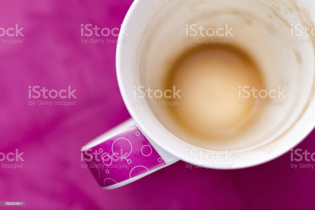 Tea cup with stains - bright version stock photo