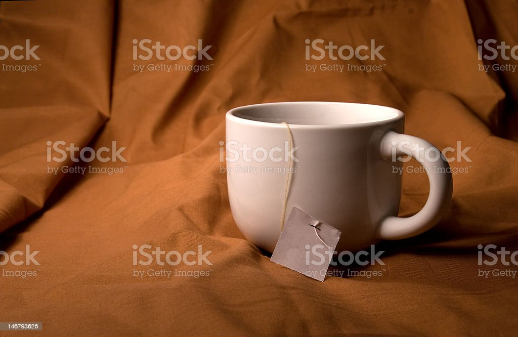 Tea Cup with Tag royalty-free stock photo