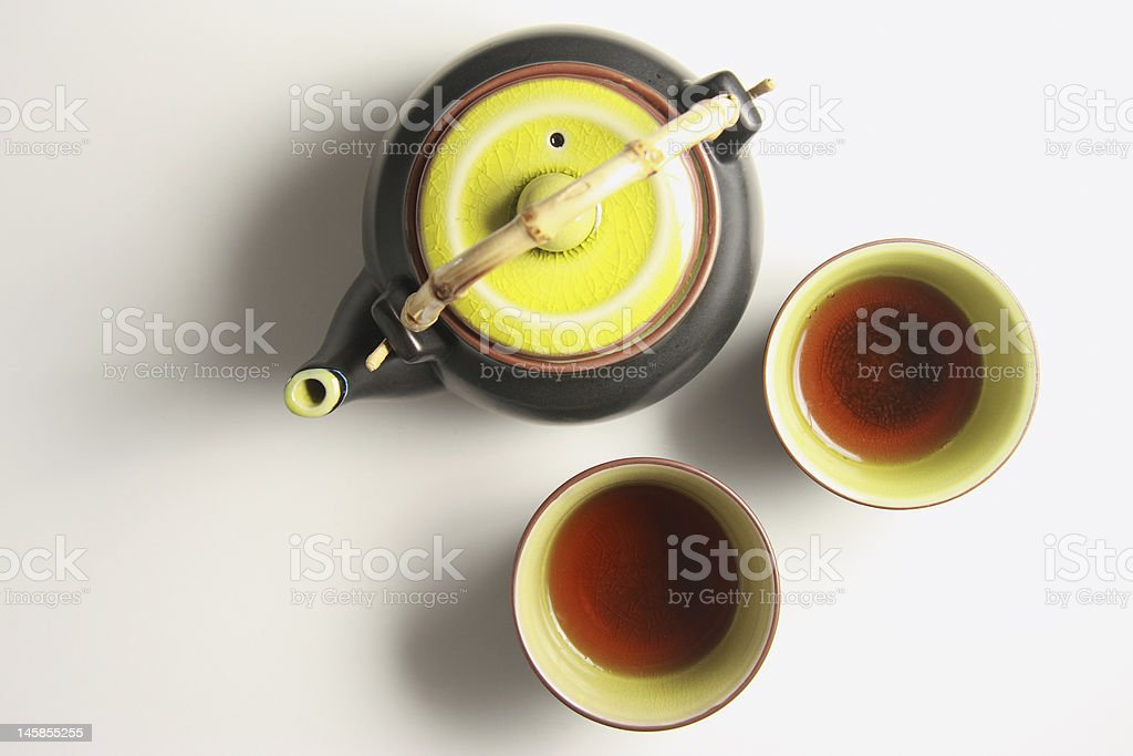 Tea cups and Kettle royalty-free stock photo