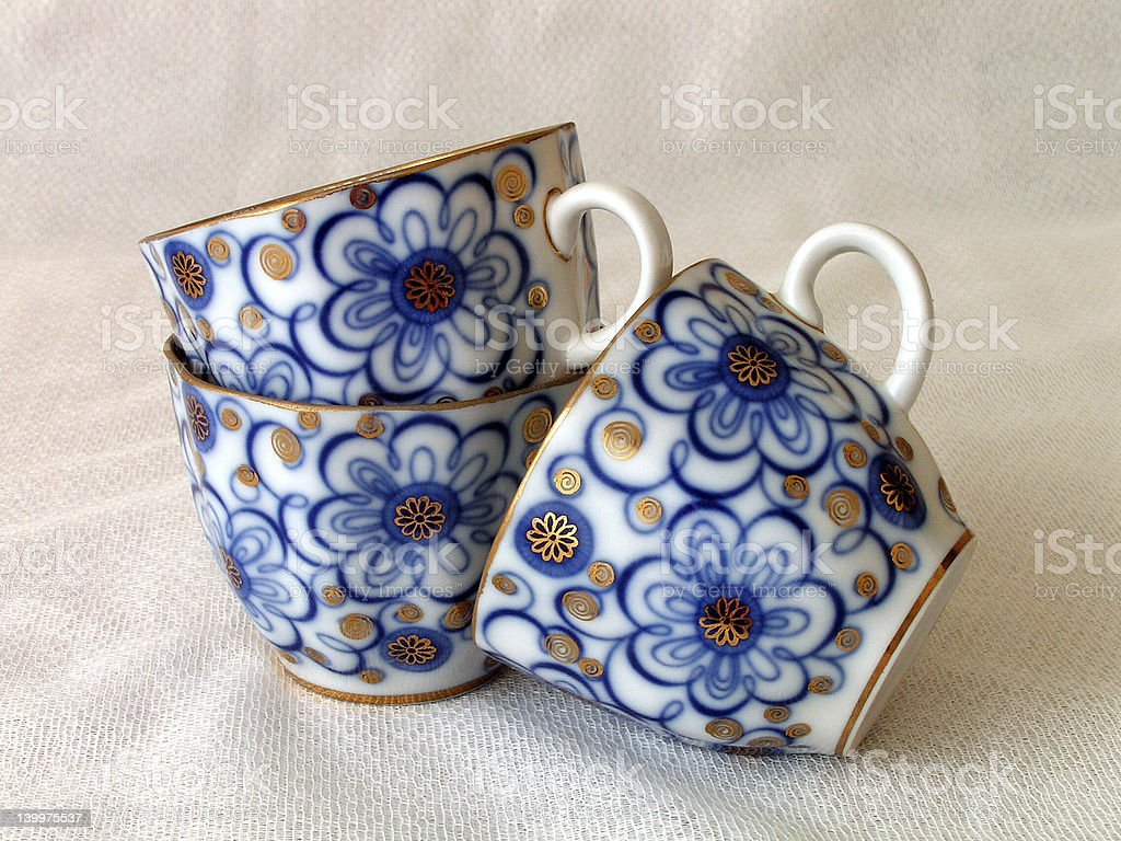 Tea cups. royalty-free stock photo