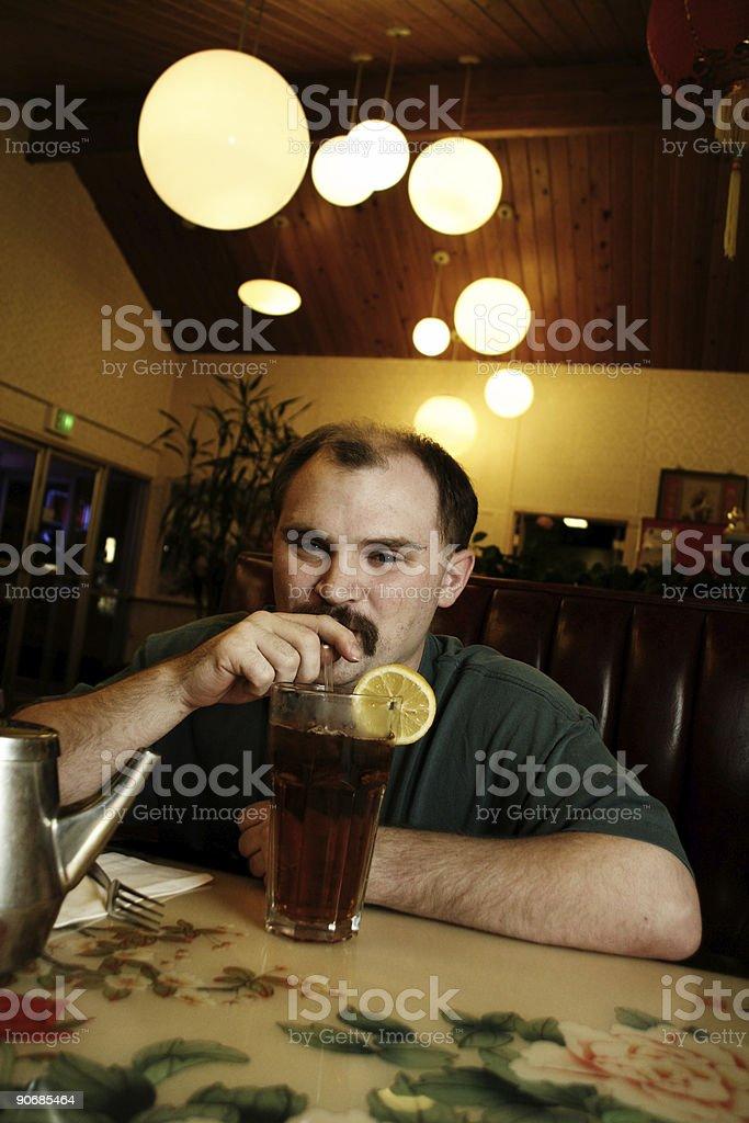 tea drinker royalty-free stock photo