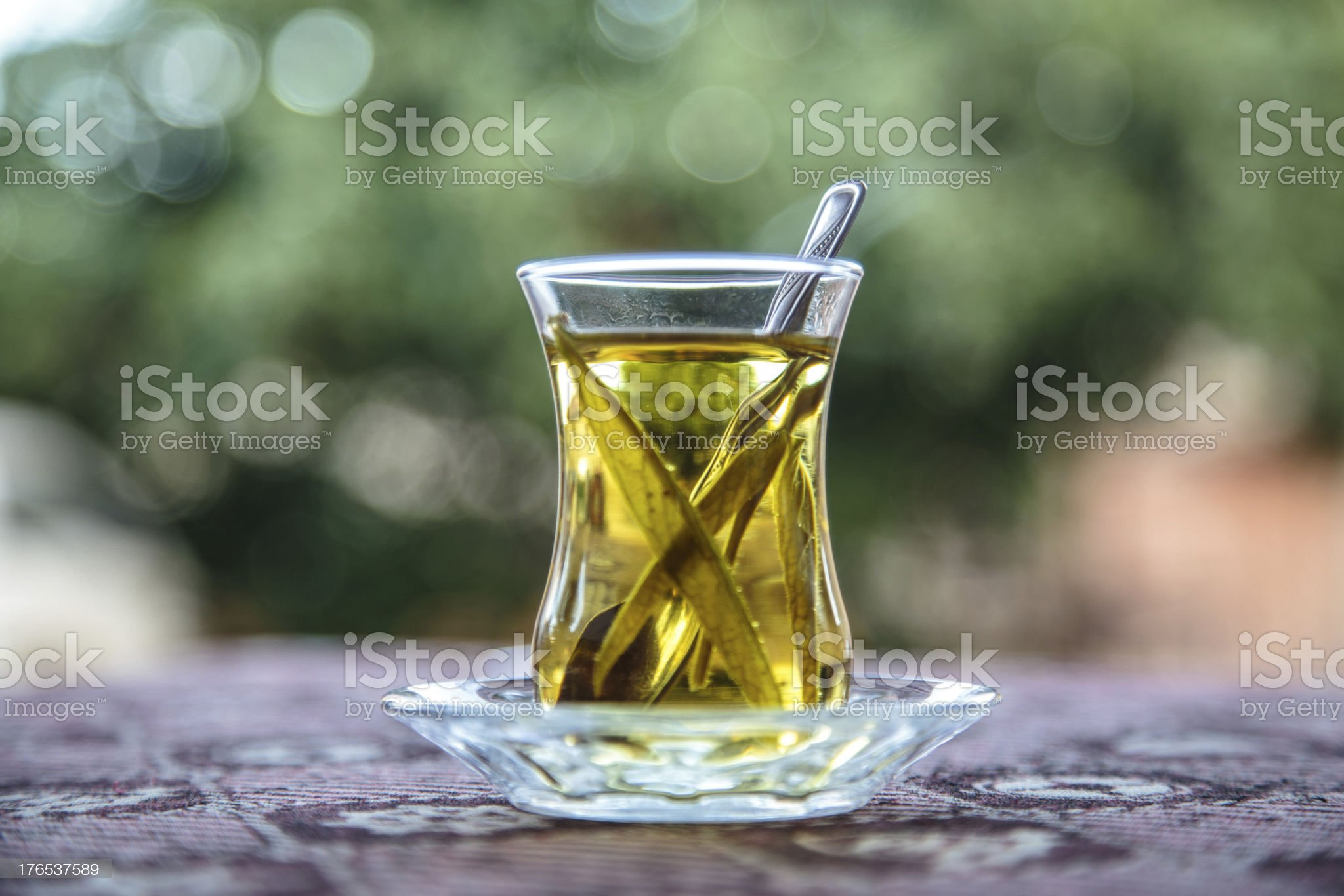 tea glass on table royalty-free stock photo