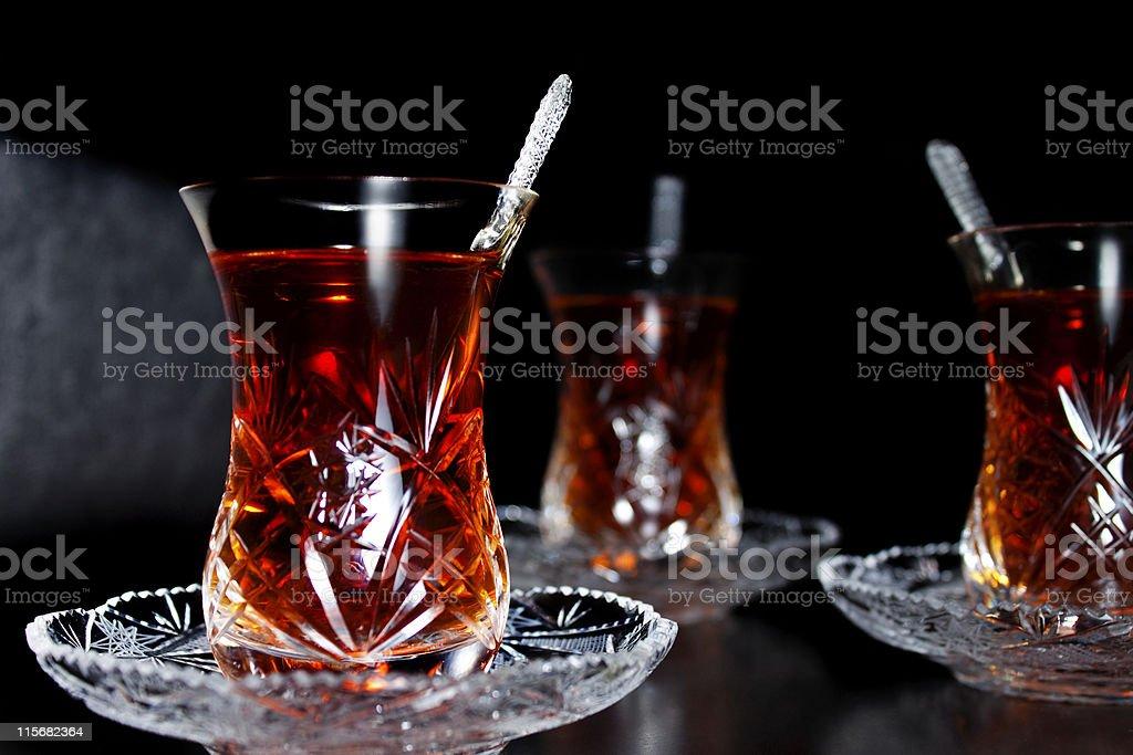 tea glasses royalty-free stock photo