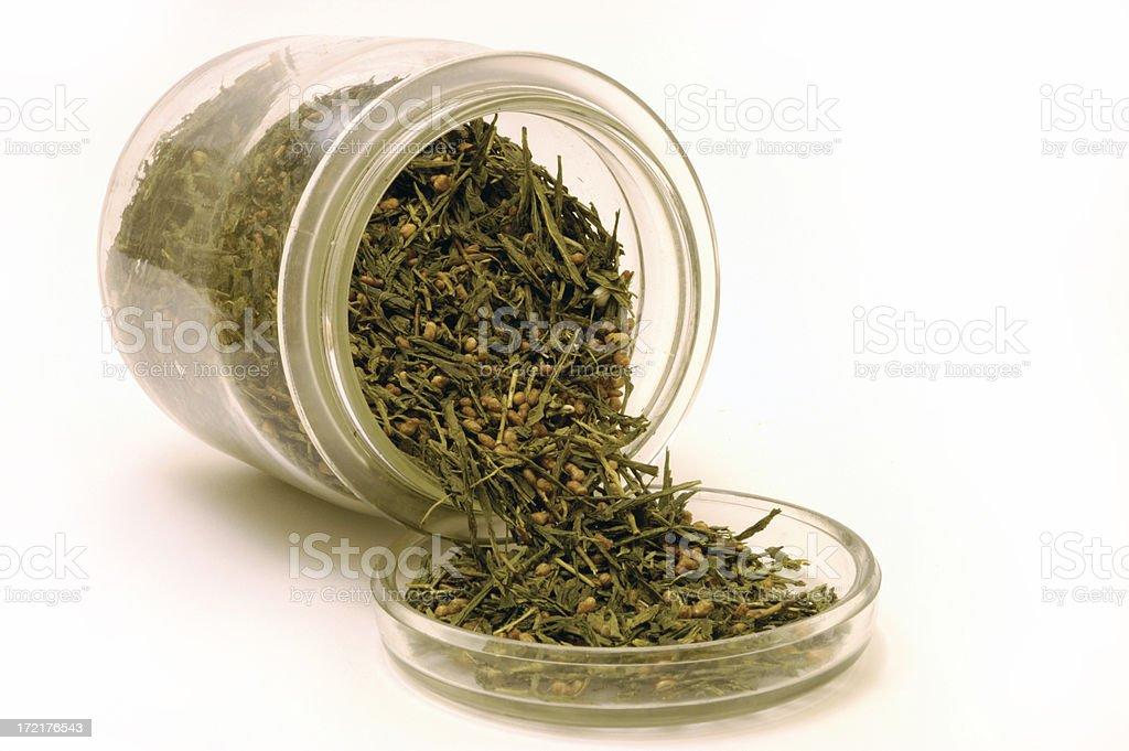 Tea in a glass jar stock photo