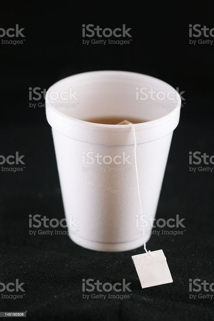 tea in a polystyrene cup royalty-free stock photo