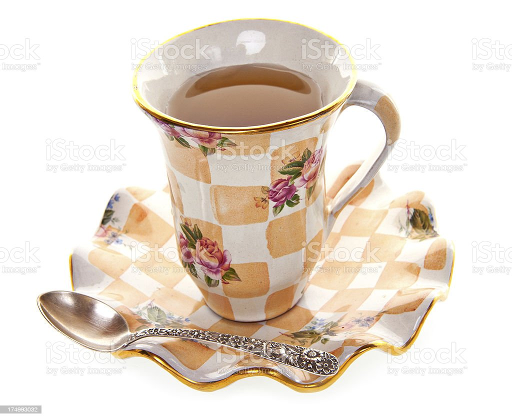 Tea in Antique China Cup royalty-free stock photo