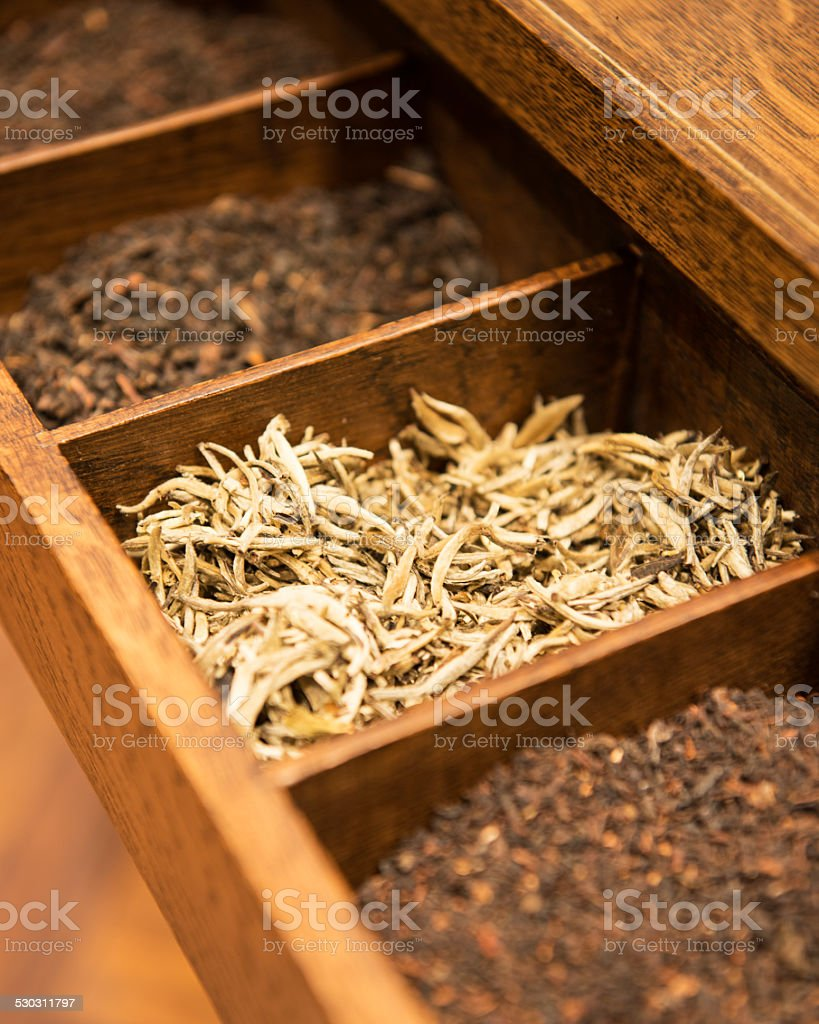 tea in box stock photo