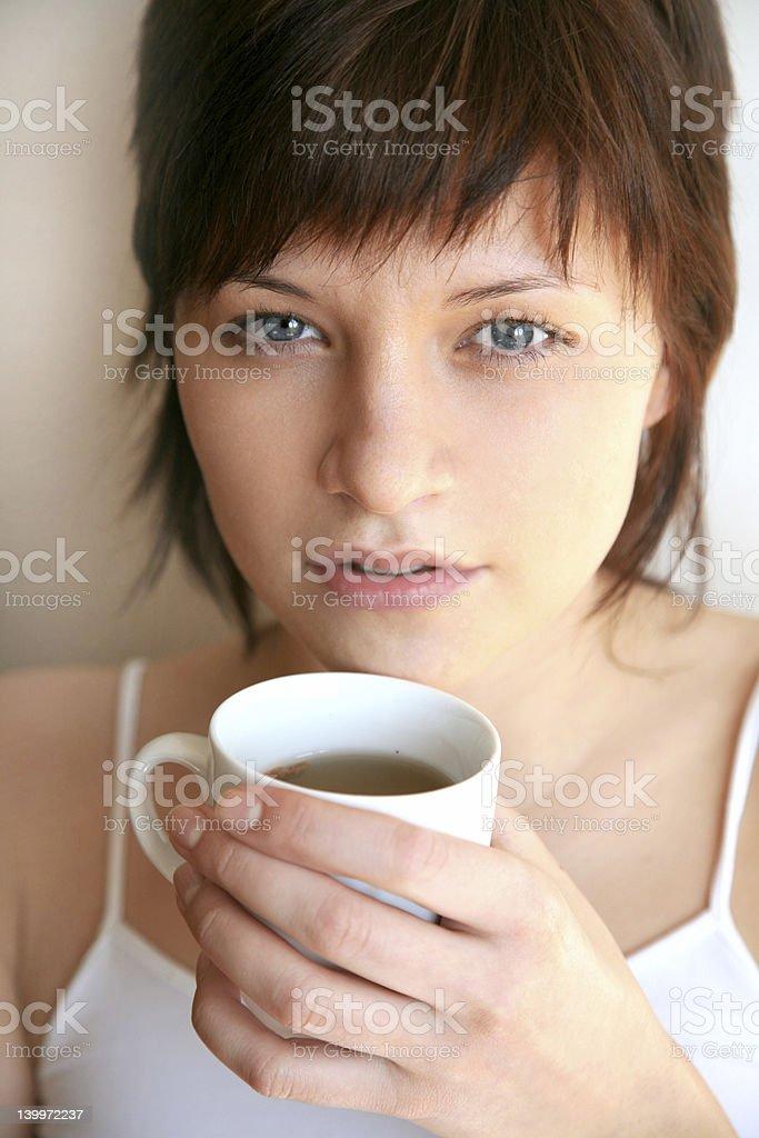 tea in the morning stock photo