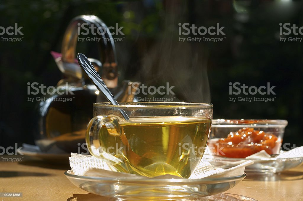 Tea is sent! stock photo