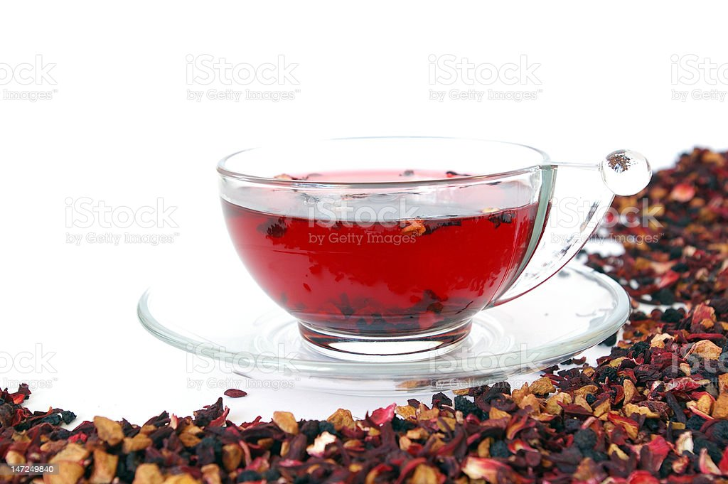 Tea  isolated on white royalty-free stock photo