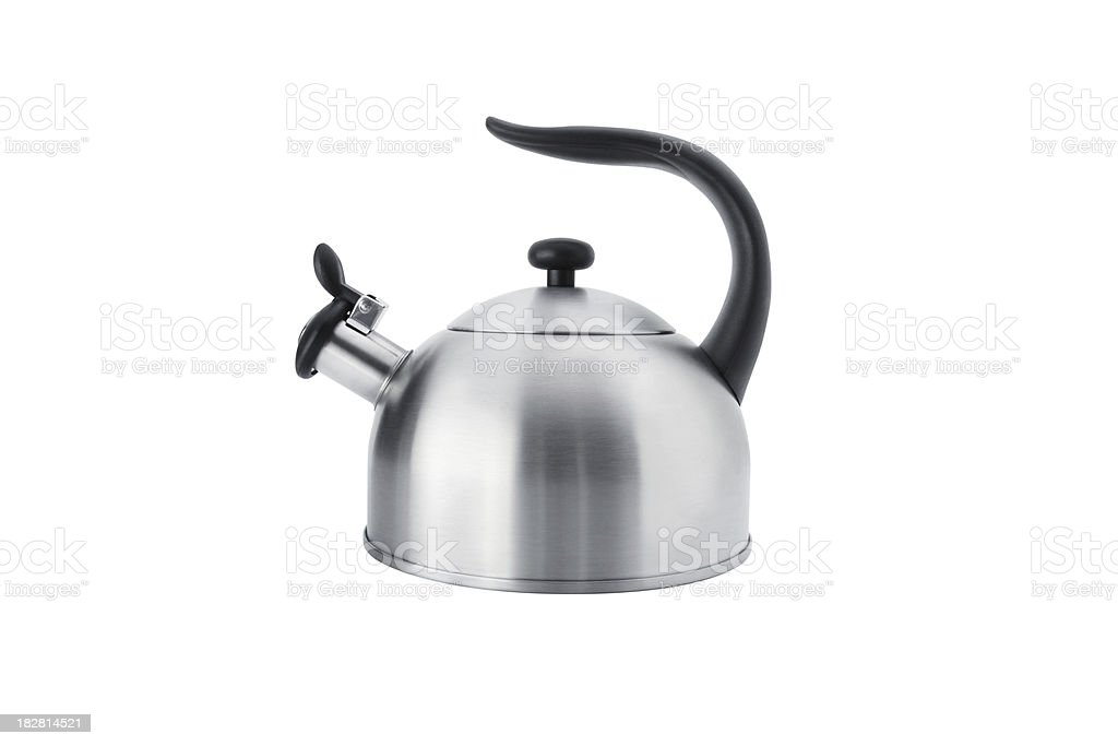 Tea Kettle with Clipping Path royalty-free stock photo