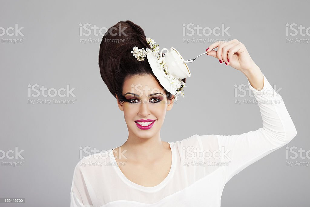 Tea Lady stock photo