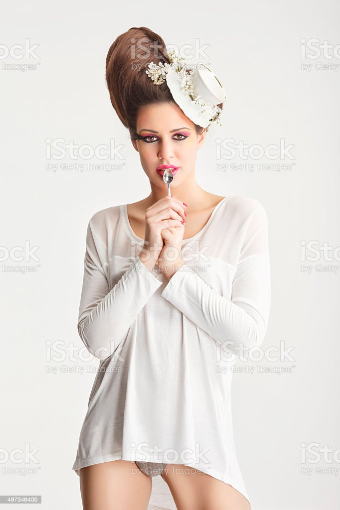 Tea Lady stock photo