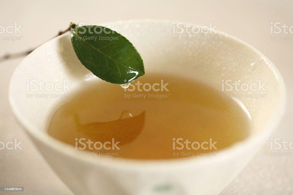 tea leaf royalty-free stock photo