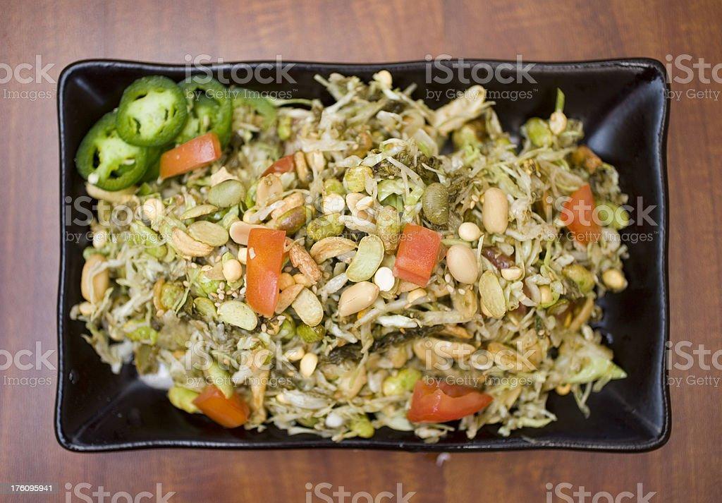 tea leaf salad royalty-free stock photo