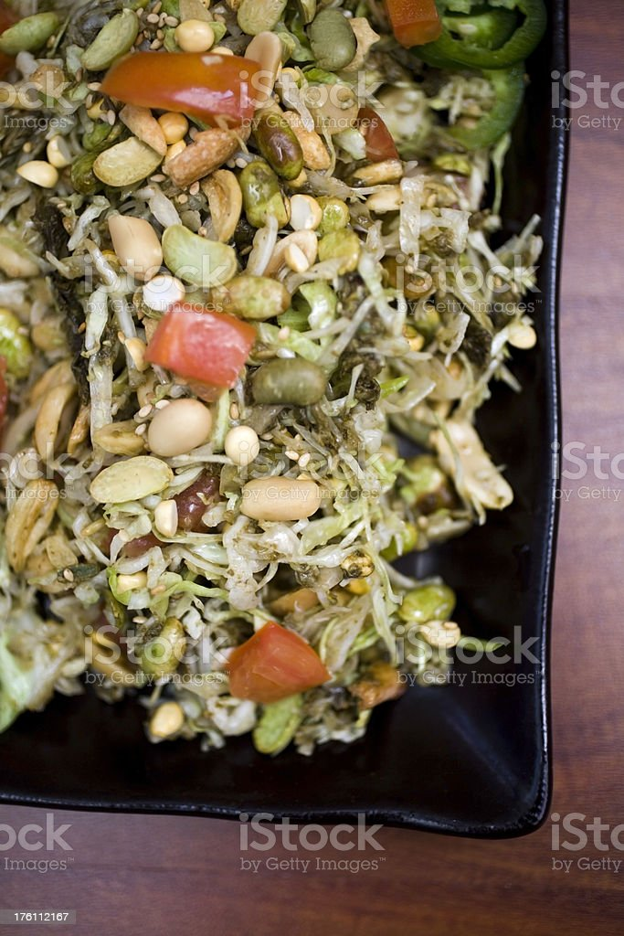 Tea leaf salad royalty-free stock photo