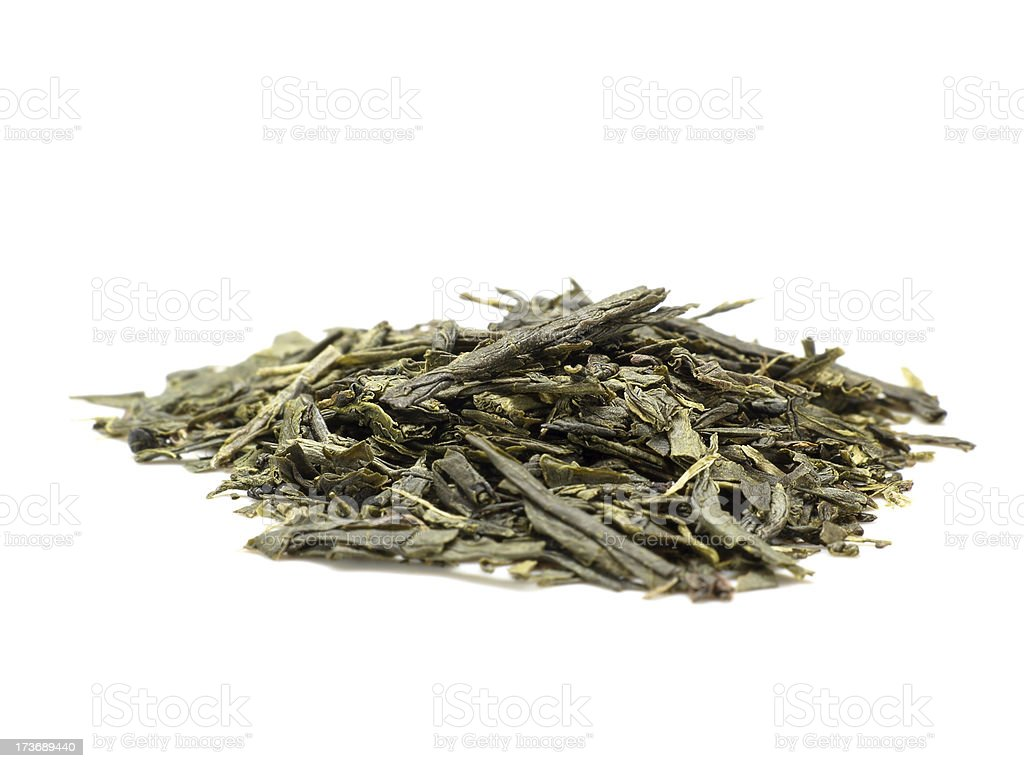 tea leaves isolated on white royalty-free stock photo