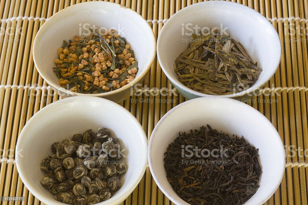 Tea Leaves Selection stock photo