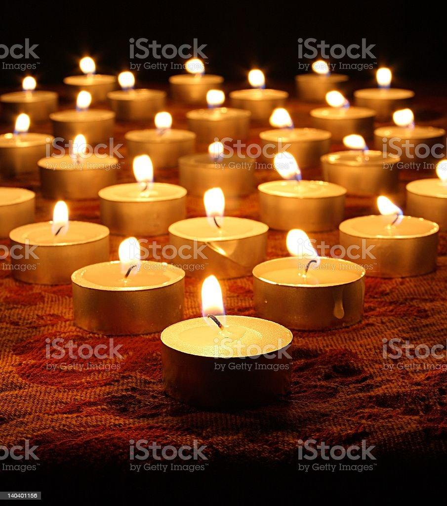 Tea Light Candles royalty-free stock photo