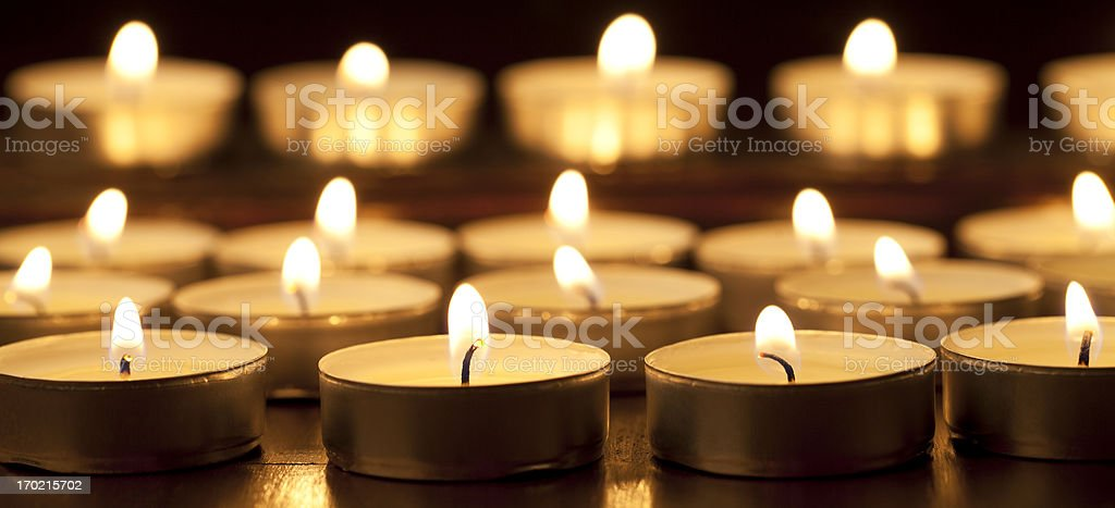 Tea Lights - Candles royalty-free stock photo
