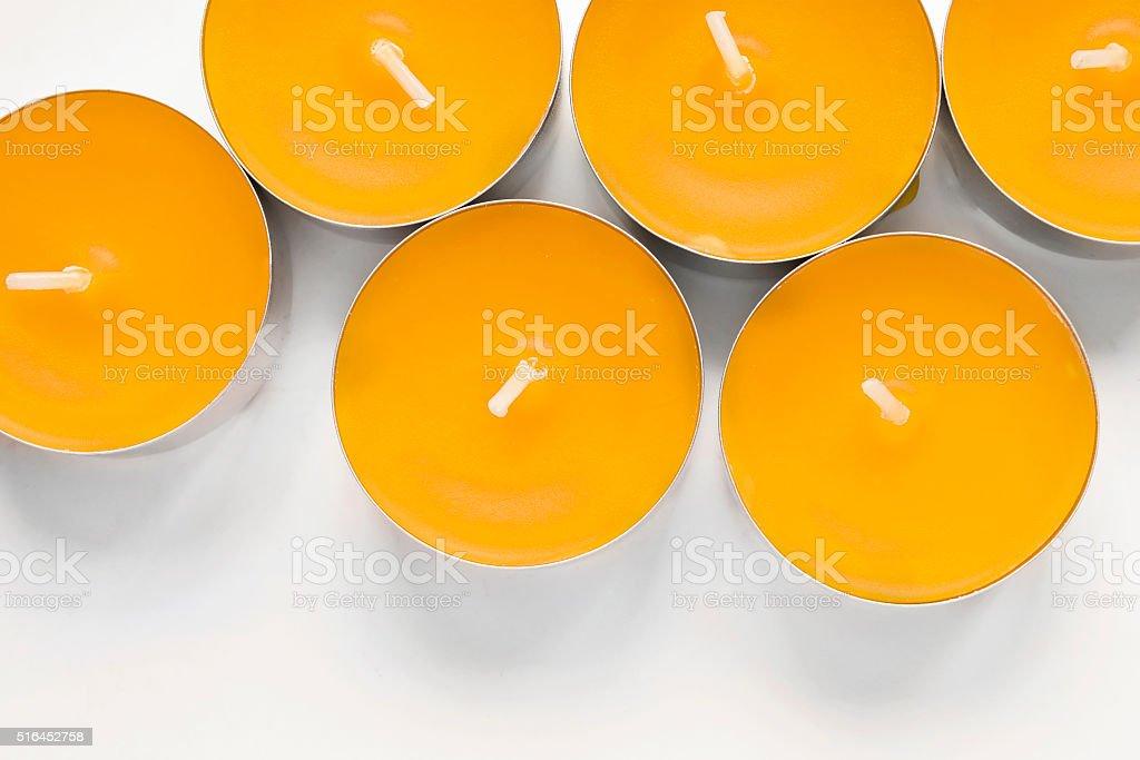 Tea lights stock photo