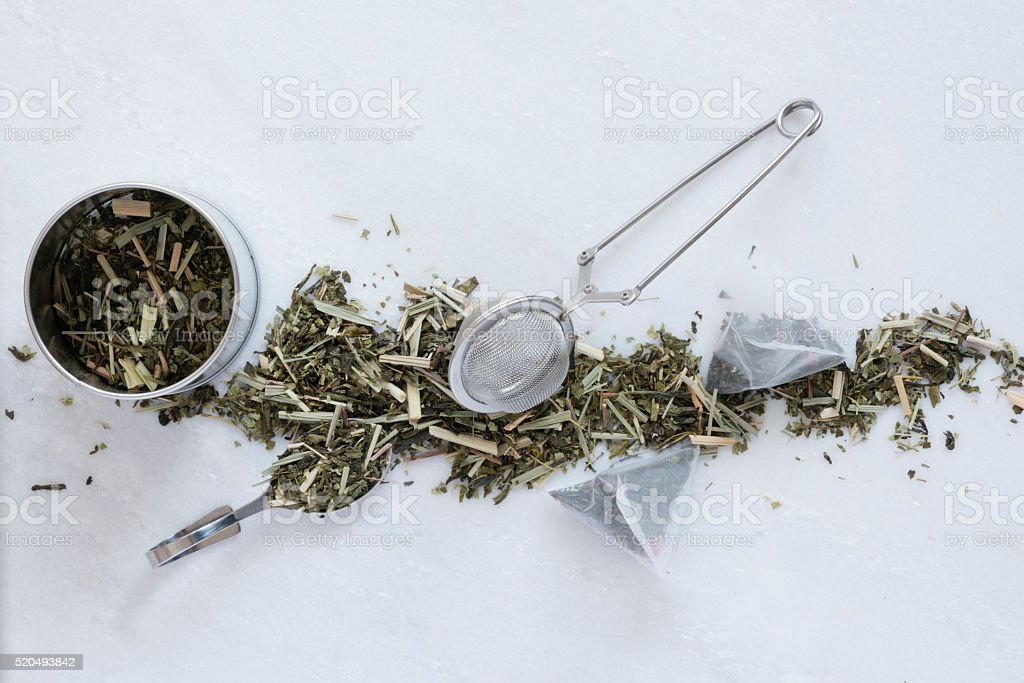 Tea Making Utensils stock photo