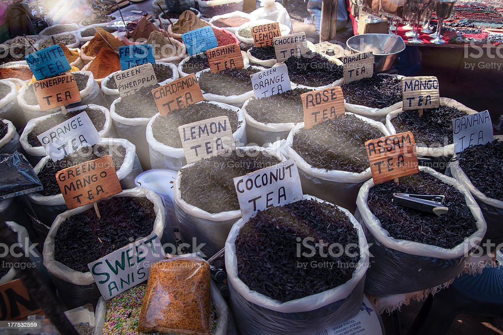 Tea market royalty-free stock photo
