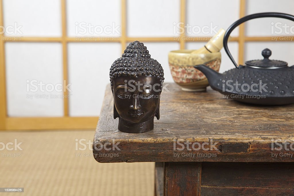 Tea on a tatami mat royalty-free stock photo