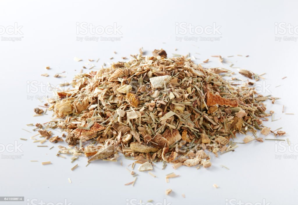 Tea on a white background, European tea stock photo