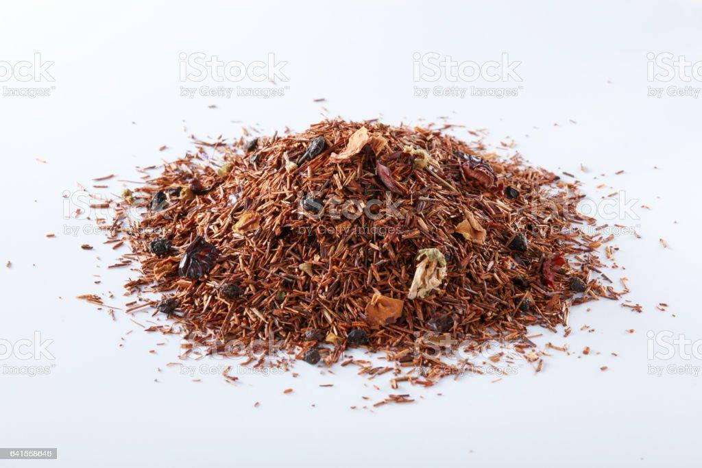 Tea on a white background, European tea stock photo