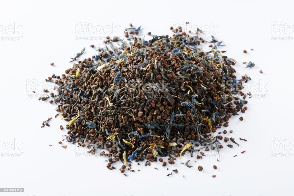 Tea on a white background, European-style tea stock photo