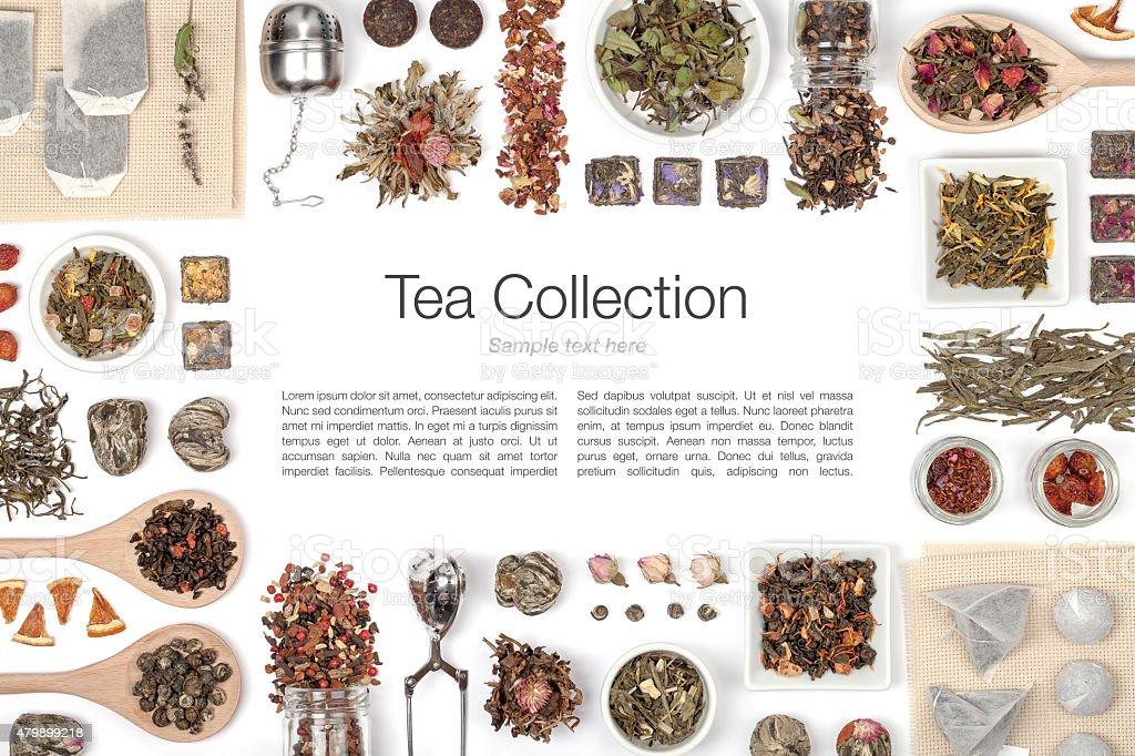 tea on white background stock photo