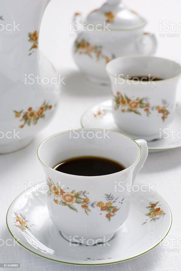 Tea or coffee set royalty-free stock photo