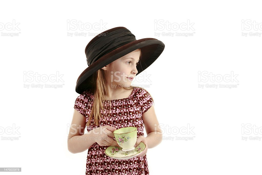 Tea Party Of One royalty-free stock photo