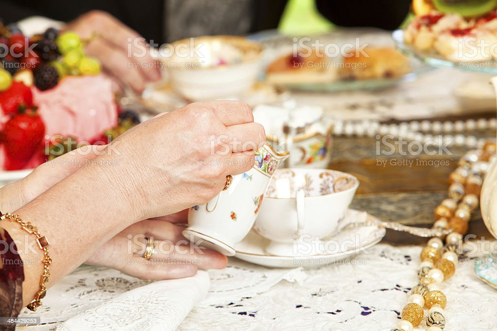 Tea party stock photo