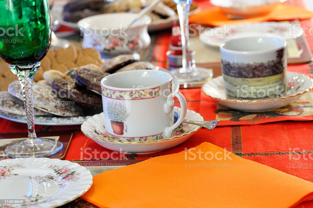 Tea Party Setting royalty-free stock photo