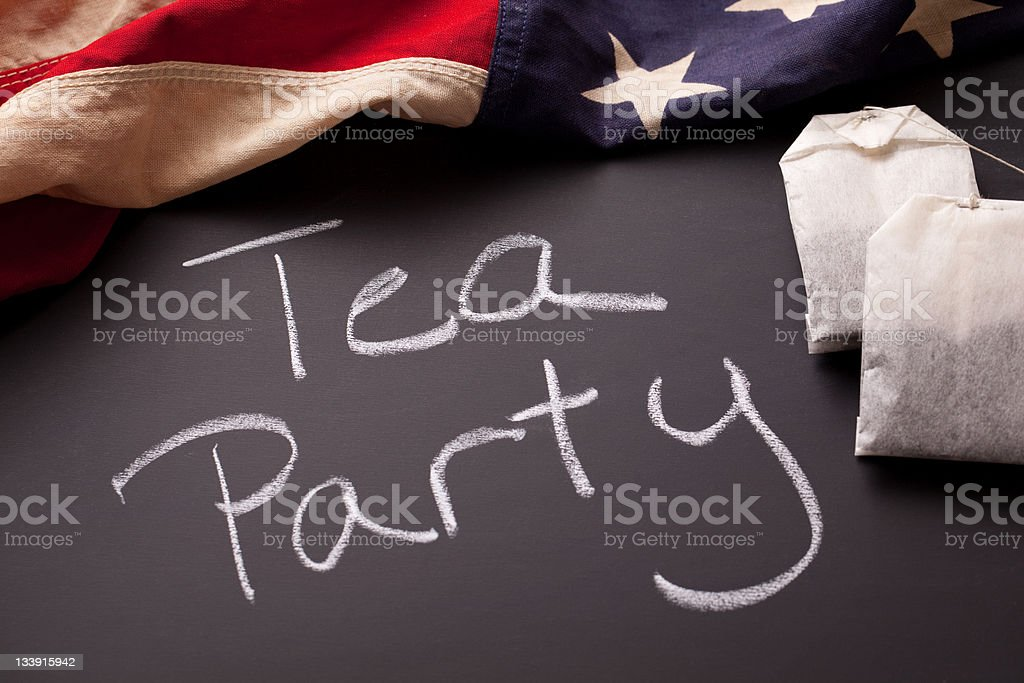 Tea Party Sign royalty-free stock photo