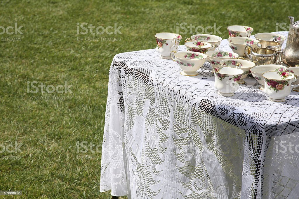 Tea party table royalty-free stock photo