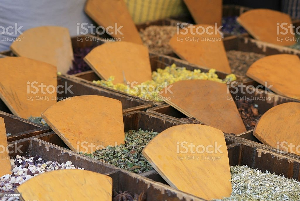 Tea plants at market royalty-free stock photo