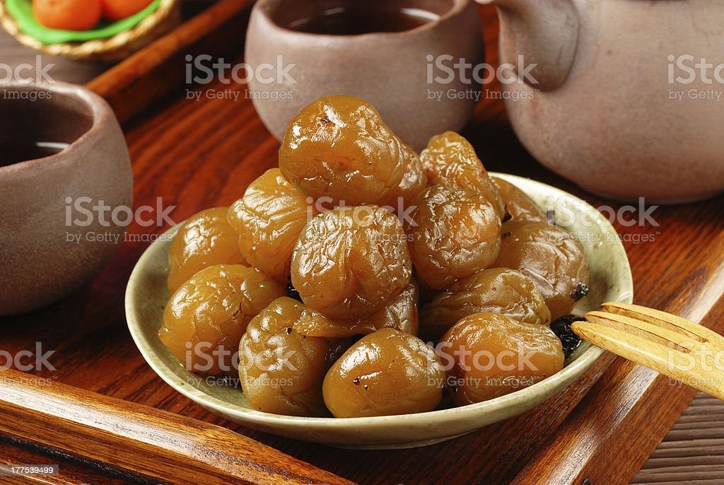 Tea plum royalty-free stock photo