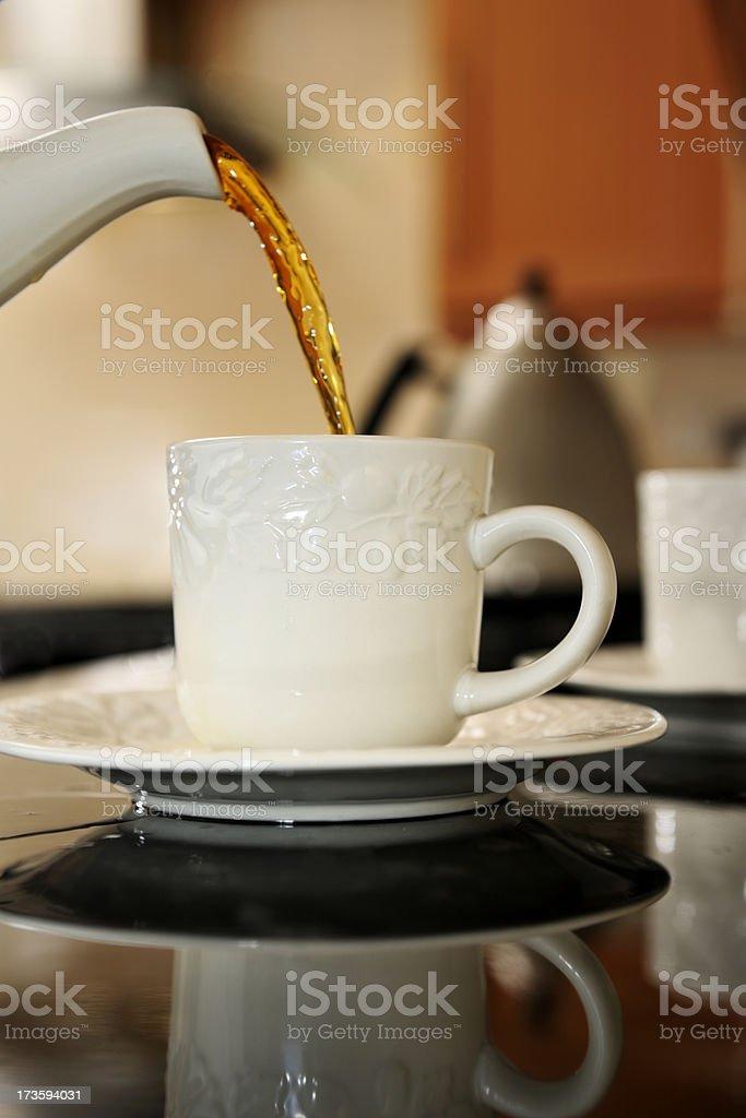 tea poring from teapot royalty-free stock photo